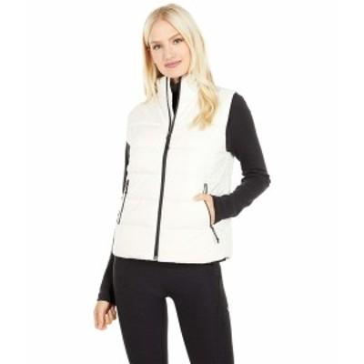 ノースフェイス レディース コート アウター Hybrid Insulation Vest Vintage White