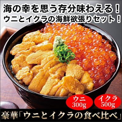 豪華「ウニとイクラの食べ比べ」ウニ300g/イクラ500g