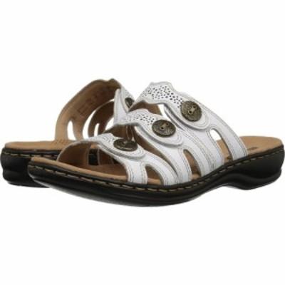 クラークス Clarks レディース サンダル・ミュール シューズ・靴 Leisa Grace White Leather