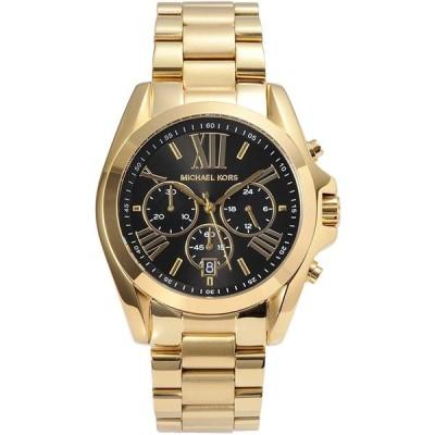マイケルコース 腕時計 メンズ レディース ブラッドショー ブラック ゴールド MK5739 Michael Kors Bradshaw 時計 ウオッチ