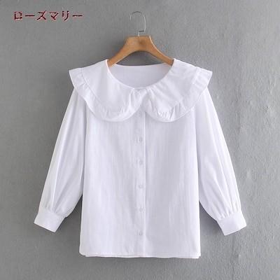 ローズマリー 欧米風 2021 4月 春 夏 新品販売 ブラウス 長袖Tシャツ 無地 可愛い 綺麗です ベーシック 大人気 レジャー 2104414