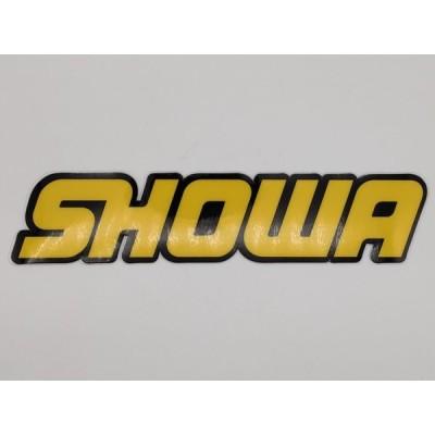 【op074】 SHOWA 黄文字 黒背景 文字切抜き 21.0cm×4.5cm フォークプロテクター
