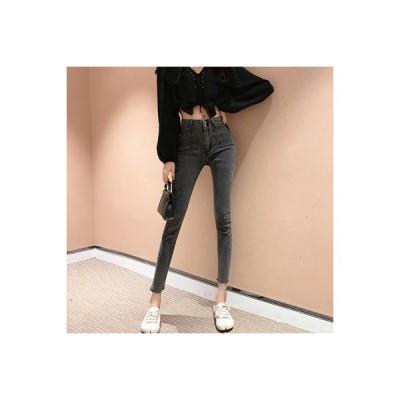 【送料無料】韓国風 ハイウエストのジーンズ 女 春服 バリ  ペンシルズボン 着やせ | 364331_A63807-0806301