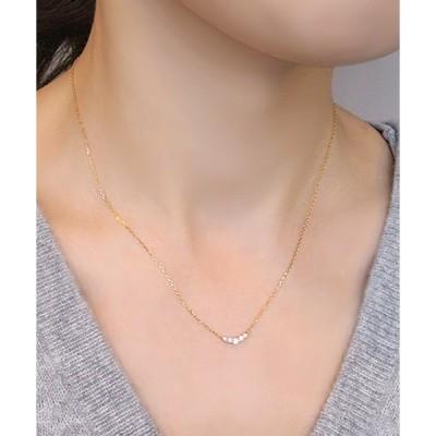 ネックレス K18イエローゴールド ダイヤモンドリュール ネックレス