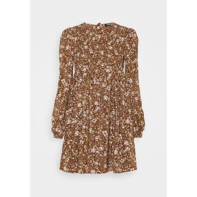 ファッションモンキー ワンピース レディース トップス FLOWERPOT DRESS - Day dress - brown