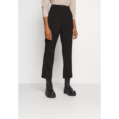 カフェ カジュアルパンツ レディース ボトムス KAMERLE 7/8 PANTS - Trousers - black deep