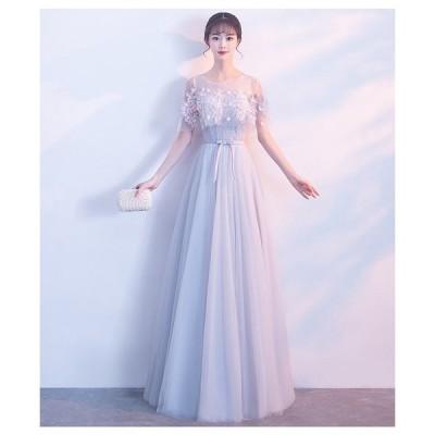 パーティードレス イブニングドレス ブライダルメイド レディース ドレス 大きいサイズ 大人気 ドレス 大きいサイズ レース 二次会 m65
