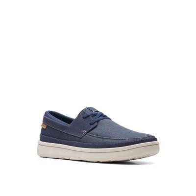クラークス ドレスシューズ シューズ メンズ Men's Cantal Lace Slip-On Shoes Navy Canvas