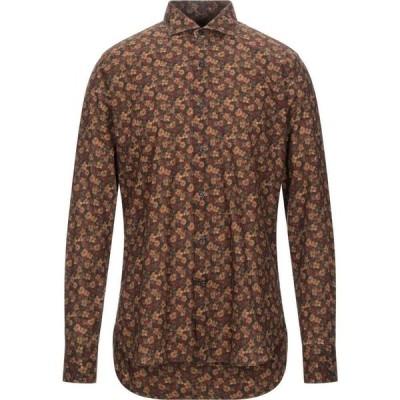 オリアン ORIAN メンズ シャツ トップス patterned shirt Camel