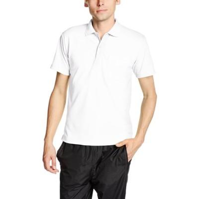 [グリマー] 半袖 4.4オンス ドライ ポロシャツ [ポケット付] 00330-AVP ホワイト L (日本サイズL相当)