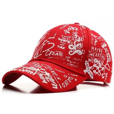 グラフィティ ベース ボール キャップ 野球帽 帽子 スポーツ プリント ロゴ テキスト デザイン カジュアル ソリッド ハット 男性 女性 スナッ