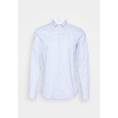 カルバン クライン テイラード メンズ シャツ トップス SMALL CHECK EASY CARE SLIM - Formal shirt - blue blue