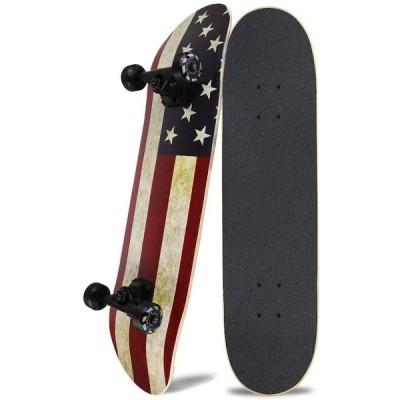 NPET スケートボード 31インチ スケボー スケボー初心者に向き 大人/若者/子供用 子供へプレゼントなどに【ABEC11製ベアリング 95Aウィ