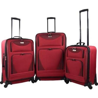 トラベラーズクラブ Travelers Club レディース スーツケース・キャリーバッグ 3個セット バッグ Sky-View 2.0 3-Piece Spinner Luggage Set Red