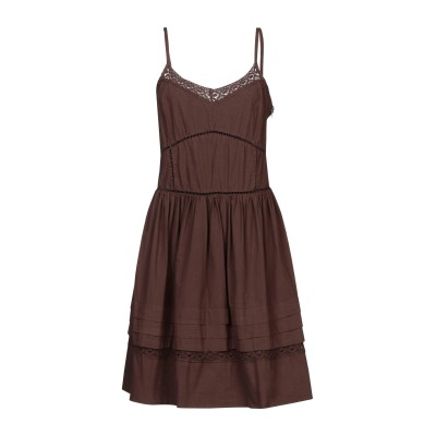 SISTE' S ミニワンピース&ドレス ダークブラウン L コットン 100% ミニワンピース&ドレス