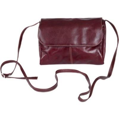 デイビットキング メンズ ビジネス系 バッグ 3522 Florentine Flap Front Handbag Cherry