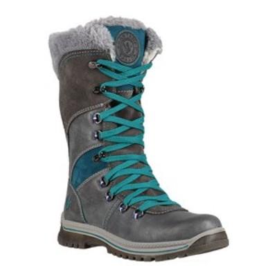サンタナカナダ レディース ブーツ&レインブーツ シューズ Marinda Knee High Winter Boot (Women's) Grey/Turquoise Leather