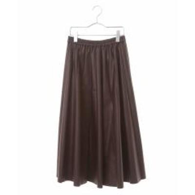 HIROKO BIS(ヒロコビス)【洗える】ミモレ丈ギャザースカート【お取り寄せ商品】