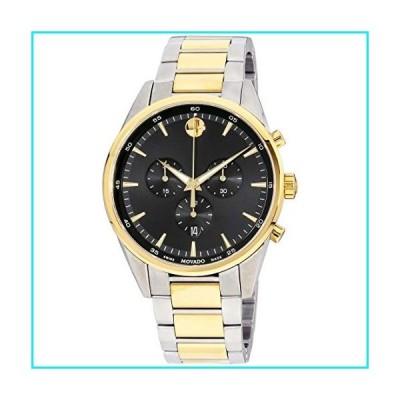 Movado Stratus Quartz Movement Black Dial Men's Watches 0607249【並行輸入品】