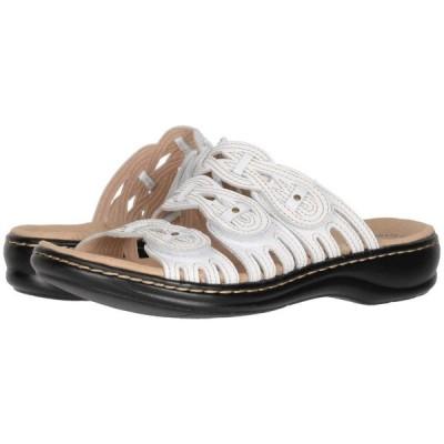 クラークス Clarks レディース サンダル・ミュール シューズ・靴 Leisa Faye White Leather