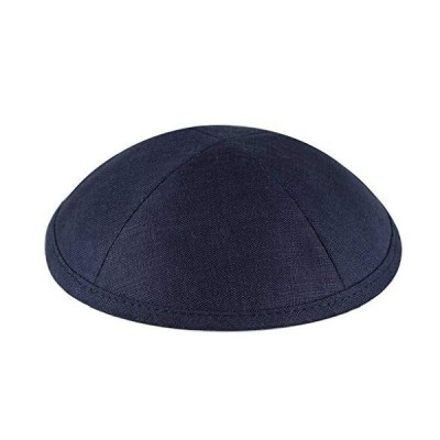 Zion Judaica Deluxe Linen Kippot for Affairs or Everyday Use Single or Bulk Orders - Optional Custom Imprinting Inside for Any Affair (60 Pack, Navy B