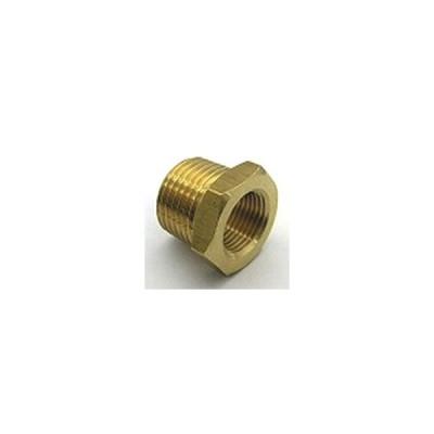 黄銅製ねじ込み継手ブッシング Rオネジ×Rcオネジ径を大きくするNB-1031 | R3/8×Rc1/8(mm)