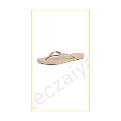 [ハワイアナス] Women's Slim Rose Gold Rubber Sandal - 7M【並行輸入品】