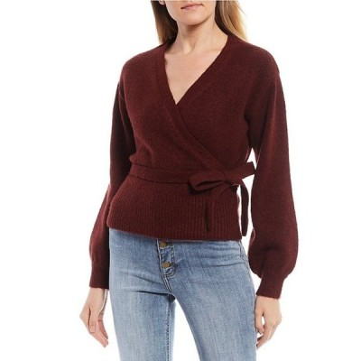 ジービー レディース パーカー・スウェット アウター Long Sleeve V-Neck Wrap Sweater