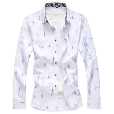 メンズ超人気品イギリス風花柄メンズカジュアルシャツ 大きいサイズもあり【M〜7XL長袖