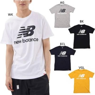 【送料無料】 ニューバランス New Balance メンズ エッセンシャルズスタックドロゴショートスリーブ Tシャツ カジュアルウェア トップス
