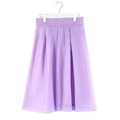 【中古】ドゥアルシーヴ DOUX ARCHIVES スカート フレア ロング 紫 パープル 38 /DK83 レディース 【ベクトル 古着】