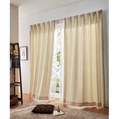 クラシックリーフ柄カーテン ドレープカーテン(遮光あり・なし) Curtains, blackout curtains, thermal curtains, Drape(ニッセン、nissen)