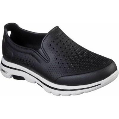 スケッチャーズ メンズ スニーカー シューズ Men's Skechers Foamies GOwalk 5 Easy Going Slip-On Black/White