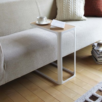 サイドテーブル コの字テーブル ホワイト STF-BK