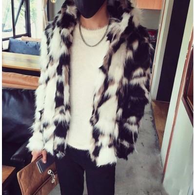 毛皮コート 大人気 フェイクファー お洒落 ジャケット 防寒 上品 メンズ ファーコート 大きいサイズ メンズ 令和 厚手 軽量 暖かい 秋冬 S-6XL 冬服