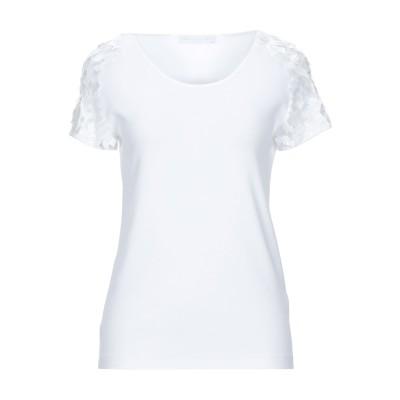 ファビアナフィリッピ FABIANA FILIPPI T シャツ ホワイト 42 コットン 94% / ポリウレタン 6% T シャツ