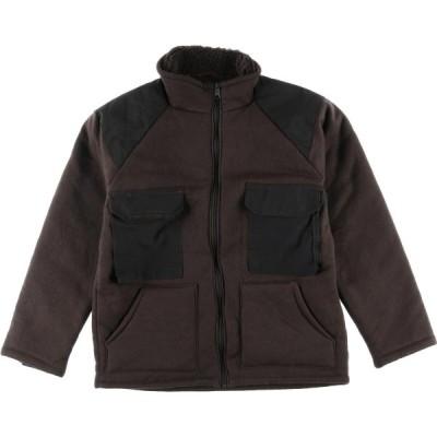 米軍 ベアージャケット ブラウンパイルジャケット ミリタリー フリースジャケット メンズL /eaa090699