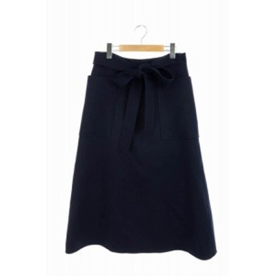 【中古】ブラミンク BLAMINK スカート ラップ ロング 36 紺 /MY ■OS ▲H レディース