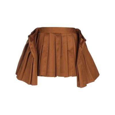 MIKIO SAKABE ミニスカート キャメル L ポリエステル 65% / コットン 35% ミニスカート