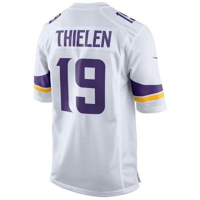 ナイキ ユニフォーム トップス メンズ Men's Adam Thielen Minnesota Vikings Game Jersey White