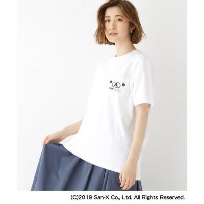 BASE STATION / ベースステーション コラボ 別注 リラックマ バックプリント 半袖 Tシャツ