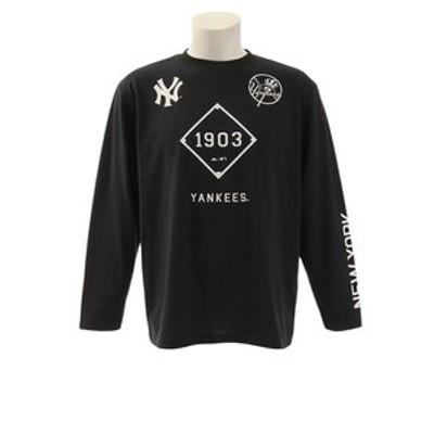 Tシャツ メンズ 長袖 ESTプリント MM03-NY-9F01-BK