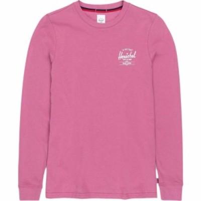 ハーシェル サプライ Herschel Supply Co. レディース 長袖Tシャツ トップス Long Sleeve Tee Classic Logo Heather Rose/White