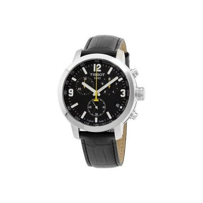 Tissot ティソット PRC 200 ブラック ダイヤル ブラック レザー ストラップ メンズ 腕時計 T0554171605700