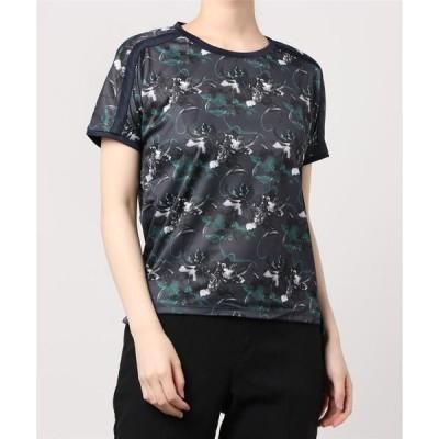 tシャツ Tシャツ デサント フラワーグラフィック 半袖Tシャツ