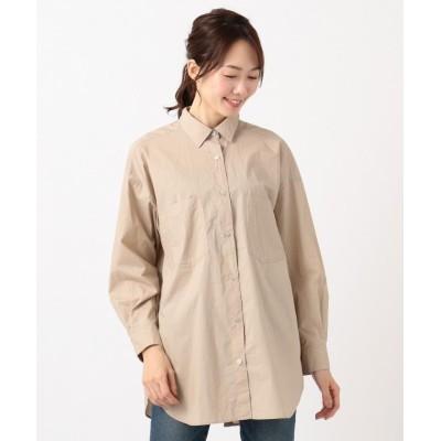 (SHARE PARK/シェアパーク)バックボタンシャツ/レディース ベージュ系