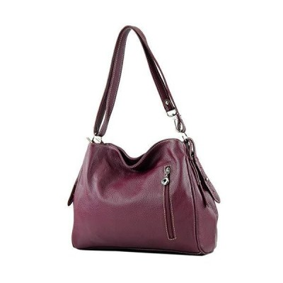 modamoda de - ital. Leather Case Shoulder Bag Shoulder Bag Shoulder Bag Leather T119, Colour:Bordeaux 並行輸入品