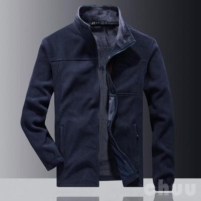 ジャケット フリースジャケット メンズ フリース トレッキング アウトドア ジップアップ 無地 シンプル 保温 柔らかい