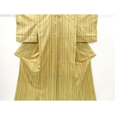 宗sou 縞に抽象模様本場大島紬着物(染)【リサイクル】【着】