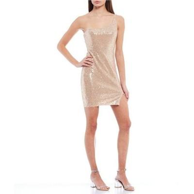 ビーダーリン レディース ワンピース トップス One-Shoulder Sequin Bodycon Dress